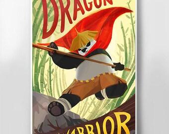 Kung Fu Panda Poster Wall Art - Home Decor Movie Art Print