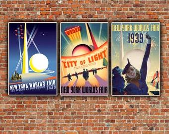 1939 New York World's Fair Canvas Art, New York Wall art,  New York Poster, New York Print, New York Canvas, New York art, New York City