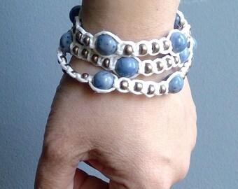 Multi-wrap hemp bracelet