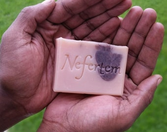 Natural Bar Soap with Grass Fed Beef Tallow - Organic Soap with Lavender Essential Oil and Rose Clay