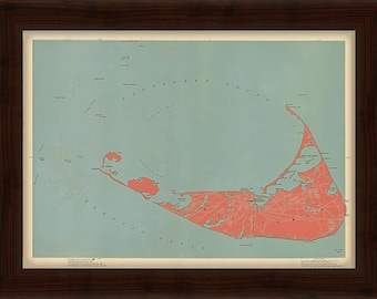 0348-Nantucket Map in Red 1896