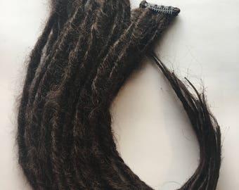 5 Clip in Dreadlocks SE Single Ended Synthetic Dreads Dreadlocs Fall Hair Extension Custom Black Brown Auburn Blonde Your Choice