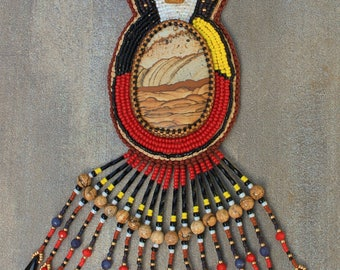 Sioux Falls bead embroidery necklace