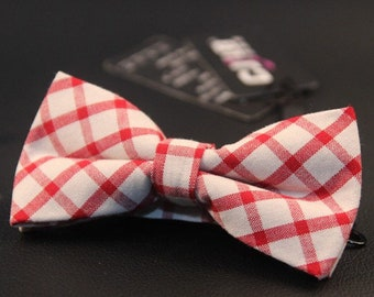 Red gingham bowties, Daddy and Kid bowtie, Valentines day(Pack of 2pcs)