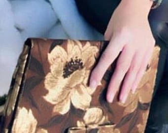 Lennox Clutch Purse 60's Vintage Granny Purse Glam Copper and Gold