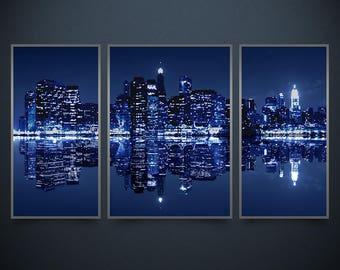 Bead embroidery kits, New York City, Night City, 78x46 cm, needlepoint kits, modern embroidery, bead embroidery pattern,