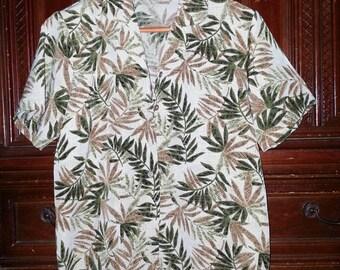 Vintage Womens Flower Pattern Hawaiian Shirt Size Small