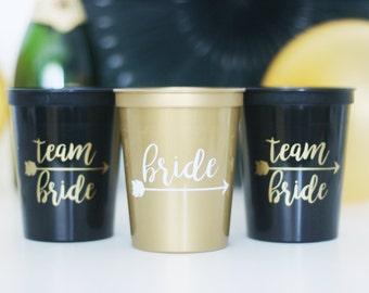 Team Bride, Bachelorette Cups, Bride Cups, Hen Party, Team Bride Cups, Bachelorette Party Favors, Bachelorette Party Cups, Stadium Cups