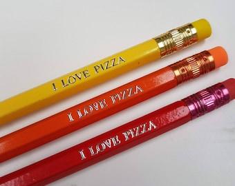 I Love Pizza Pencil