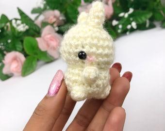 Bunny Amigurumi - Bunny Plush - Bunny Keychain - Rabbit Plush - Kawaii Keychain - Cute Plush - Cute Amigurumi - Kawaii Bunny