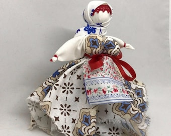 Handmade rag doll. For family happiness. Russian traditional doll for happiness.