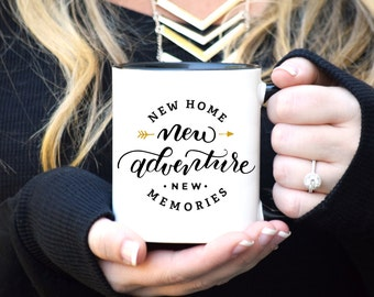 House Warming Gift, House Warming Mug, New Home Mug, New Home New Adventure Mug, New Home Gift, Rose Gold Rebel, Adulting Mug