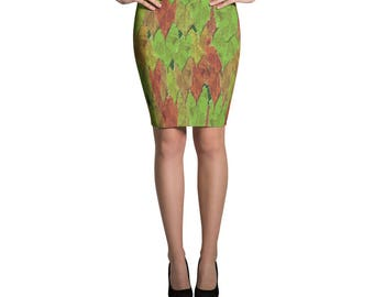 Changing Leaves Pencil Skirt