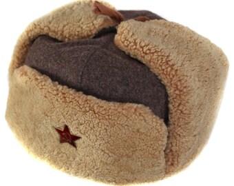 RKKA hat ushanka winter Russian ear flaps headwear