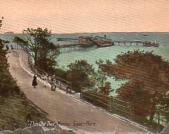 VINTAGE VIEW POSTCARDS, Weston Super Mare, Somerset, 5, collected by junqueTrunque