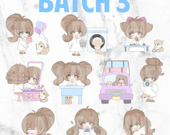 Batch 3 - Bippity and Boo 01 (Kawaii Planner Stickers)