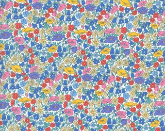 Liberty Tana Lawn - POPPY PARK X, The Strawberry Thief Bespoke Collection, buy by the fat quarter/meter