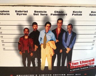 Movie Collectible The Usual Suspects Limited Edition Collector's Set, Vintage Movie Memorabilia Lighter, Movie Lapel Pins, VHS Tape