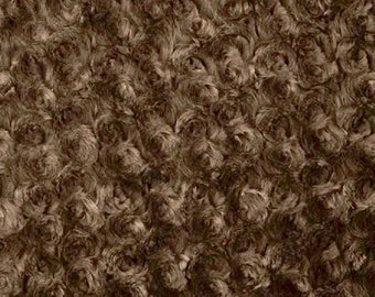 Ruth BROWN Cuddle Minky Rosette Soft Faux Fur Fabric by the Yard - 10083