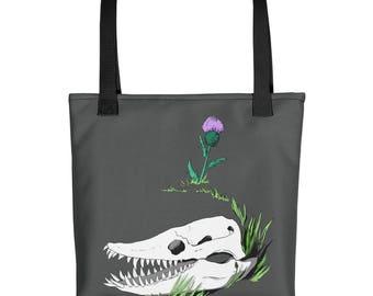 Elasmosaurus Thistle Tote bag
