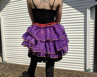 Red and Purple Bustle Skirt With Secret Pockets!