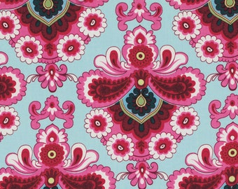 Amy Butler Fabric - French Wallpaper in Duckegg from the Belle Collection