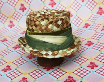 Woven Green Mad Hatter