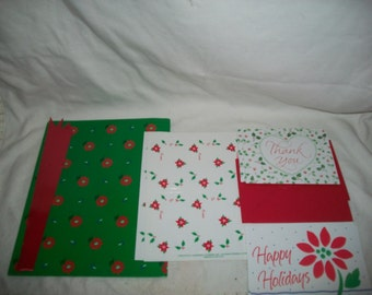 Vintage Current Christmas Gift Wrap and Stationary Set