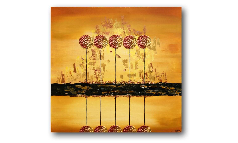 Metal Wall Art Metallic Painting Tree Wall Art Gold