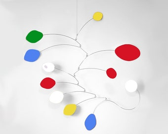 Mod Mobile by Atomic Mobiles - 3 Sizes - Midcentury Inspired Colorful Kinetic Art