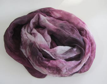 Hand dyed mulberry china silk