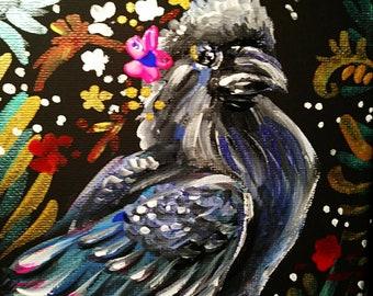 Original raven painting