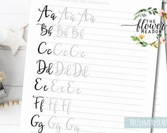Calligraphy tutorial, Learn calligraphy, hand lettering guide, Brush lettering worksheets lettering practice, wedding brush alphabet 10