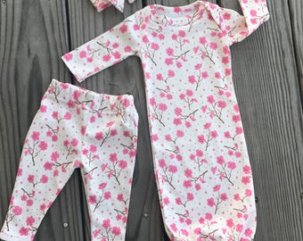Newborn Girl Hospital Outfit, Take Home Outfit, Newborn Girl Layette Outfit