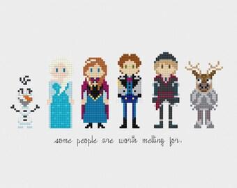 Disney Princess: Frozen Cross Stitch Pattern PDF Instant Download