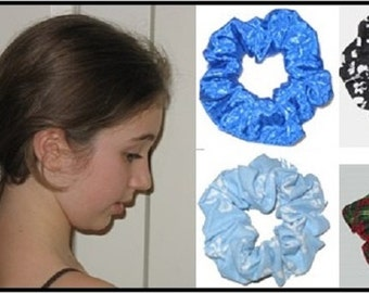 DIY Hair Scrunchies Accessories, Custom Made, Digital Sewing Pattern, Instant Download....Fits toddler-ladies