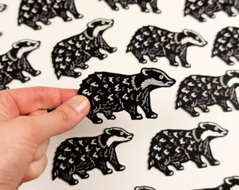 Badger Patch / Embroidered Badger Patch / Embroidered Patch / Cute Patch / Animal Patch / Patch For Jacket