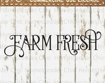 Farm Fresh Svg Files - Farm Svg - Farm Decor Svg Files for Silhouette - Farmhouse Art - Cuttable File - Svg Silhouette - DXF File BDJ