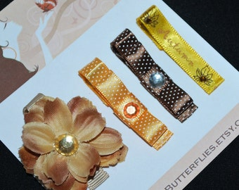Autumn Flower No Slip Hair Clips - Buy 3 Items Get 1 FREE