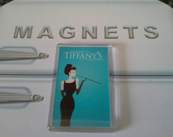 Breakfast At Tiffany's Minamalist Fridge Magnet. Audrey Hepburn