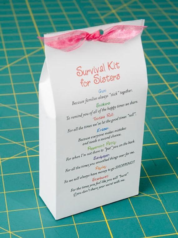 survival kit for sisters printable pdf