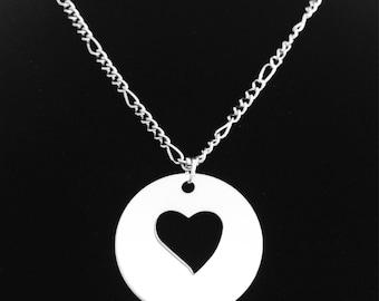 Single Heart Necklace - Personalization Optional
