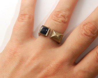 On Sale Was 70. Tete a Tete Ring (ltd. edition 3D printed with Enamel)