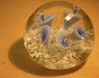 Monte Dunlavy Glass Paper Weight
