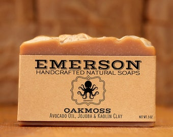 100% Natural Vegan Oakmoss Soap  •  Vegan Soap, Palm Free Soap, All Natural Soap, Handmade Soap, Gift for Him, Zero Waste, Waste Free