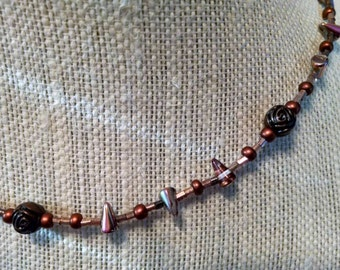 Rose and Thorns beaded necklace