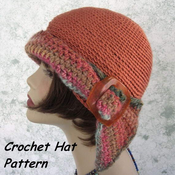 Womens Crochet Hat Pattern Versatile Flapper Girl 3 Ways To