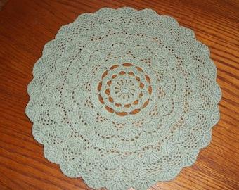 Crocheted Green Doily (p02)