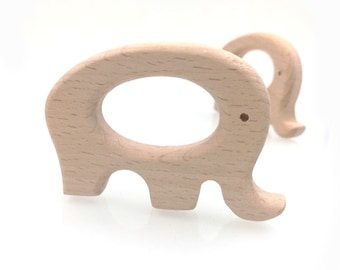 20PC baby wooden teether natural wooden Organic Elephant toys necklace Materials Nursing Accessories shower diy gifts charm pendant charm