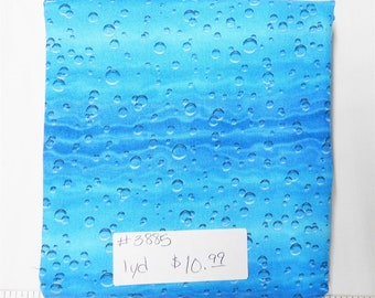 Fabric -1yd piece-Bubble Fabric/Blue/Teal Bubbles/Elizabeth's Studio/#3885
